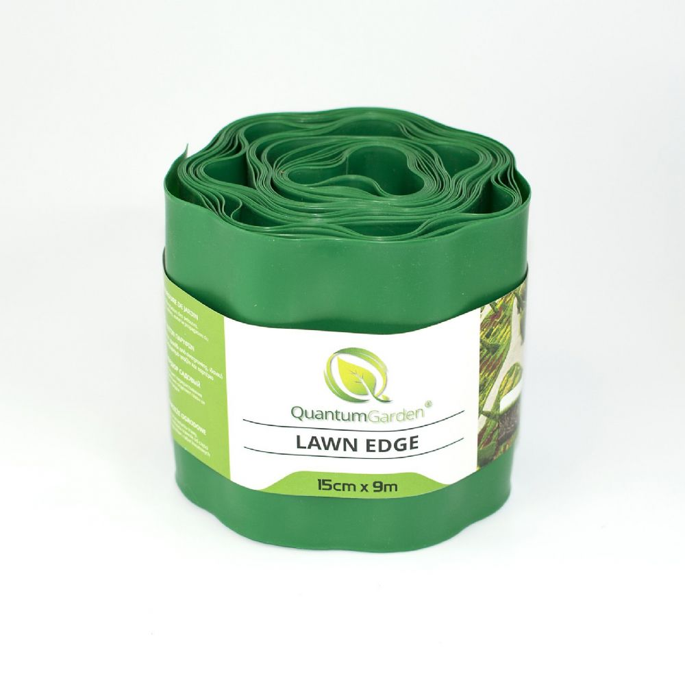 Flexible Plastic Lawn Edge 15cm x 9m in Green Colour